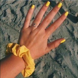 Silver Trendy Minimalist Wave Ring
